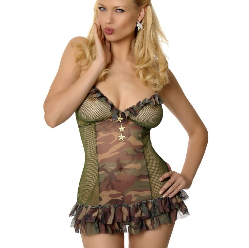 821c4d04b86 Very Military Chemise - Camouflage Lingerie - Also in PLUS SIZE!  plussize   camouflage