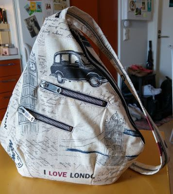 Tutorial Diy Backpack Sling Bag With Lining And Pockets Sling