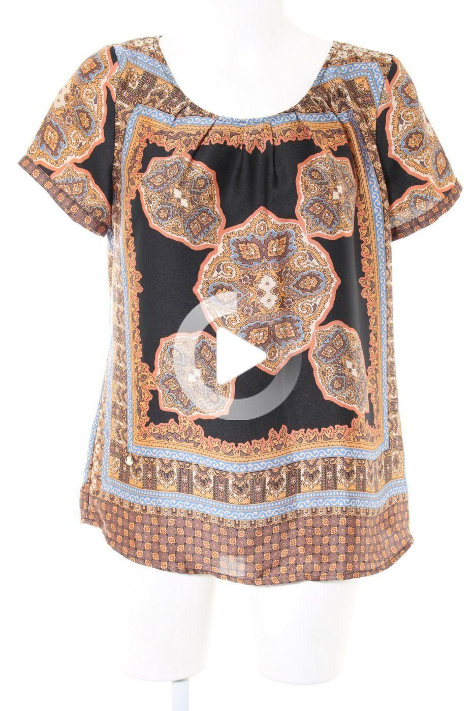 Emily Van Den Bergh Short Sleeved Blouse Abstract Pattern Casual Look In 2020 Casual Looks Fashion Abstract Pattern