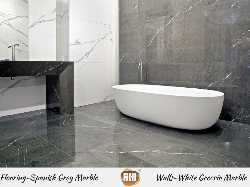 Extravagant Bathroom Interiors With Our Charismatic And Lovely Italian Marble Combination Spa White Marble Bathrooms Grey Bathroom Floor Grey Marble Bathroom