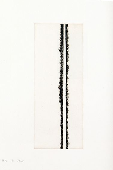 Barnett Newman Untitled, 1968 Etching 13 3/4 x 5 3/8 inches