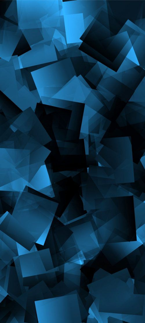 10 Abstract Wallpapers for Realme X3 - 09 - Blue 3D Squares - HD Wallpapers | Wallpapers Download | High Resolution Wallpapers