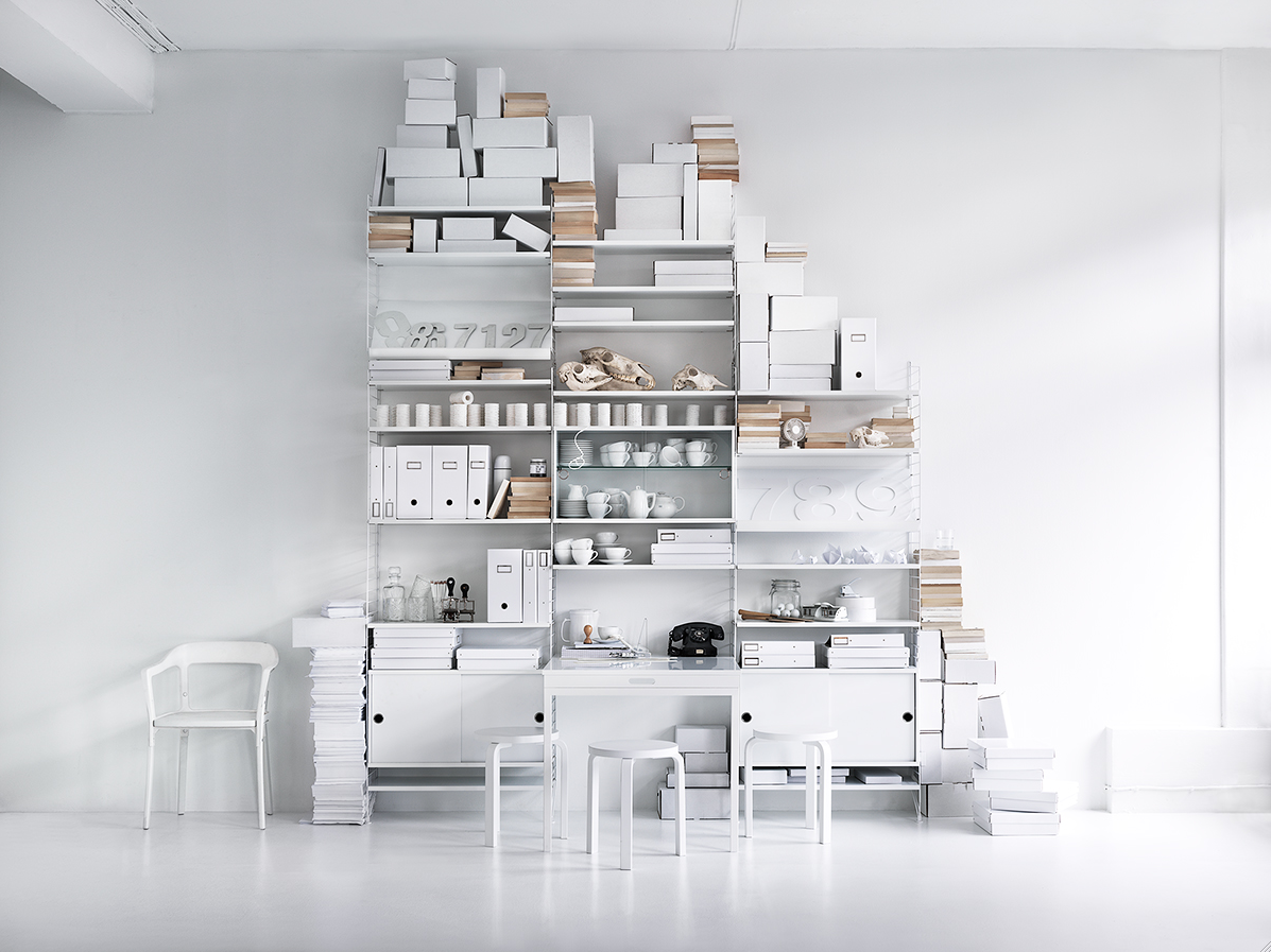 white storage | Skrinet mitt.: Lotta Agaton for String