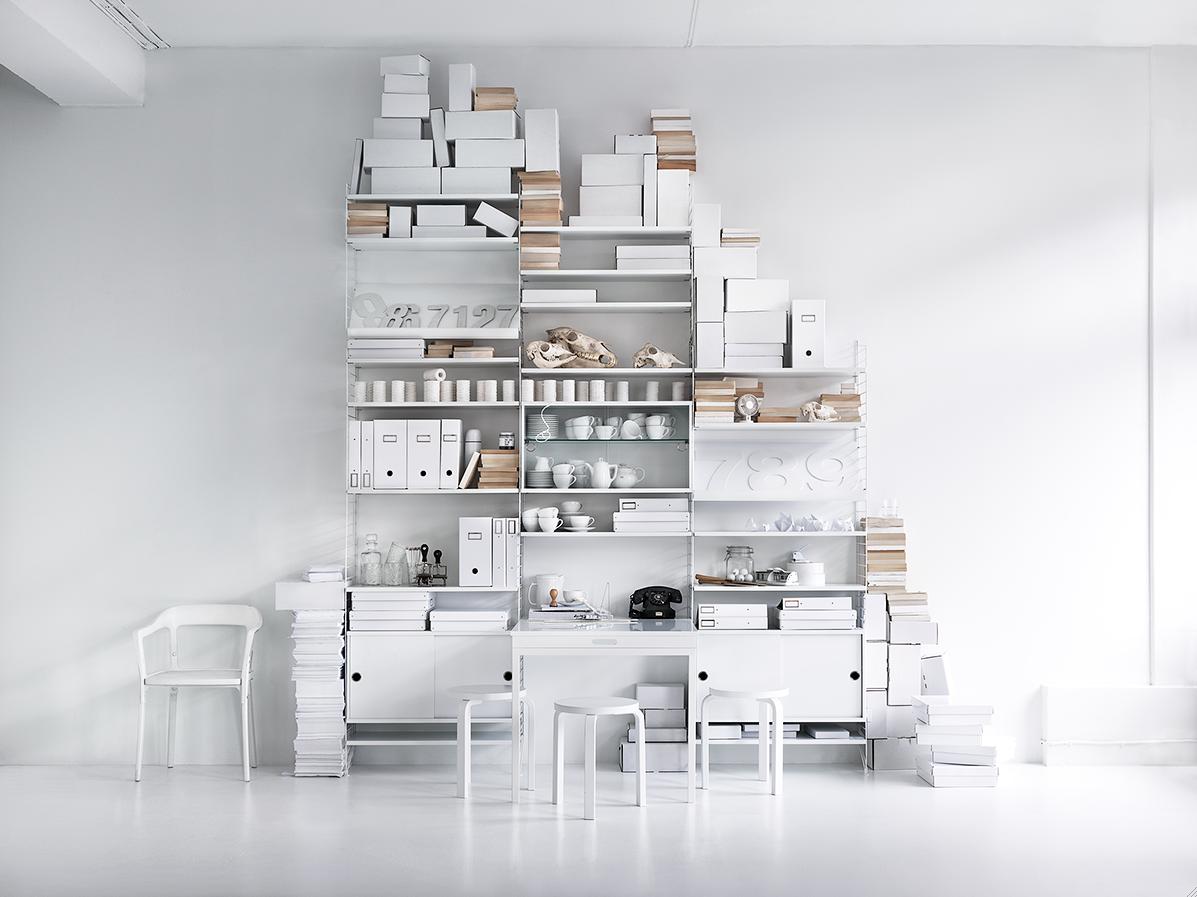 white storage | Skrinet mitt.: Lotta Agaton for String