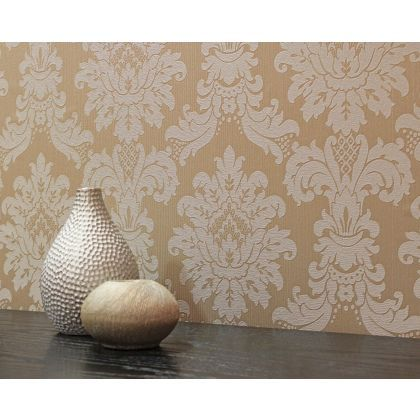 Arthouse Vintage Messina Damask Wallpaper Gold At Homebase Be Inspired And Make Your