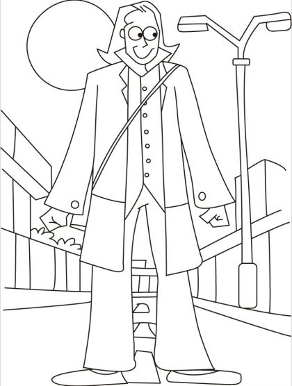 A giant on a street walk coloring pages | Download Free A giant on ...