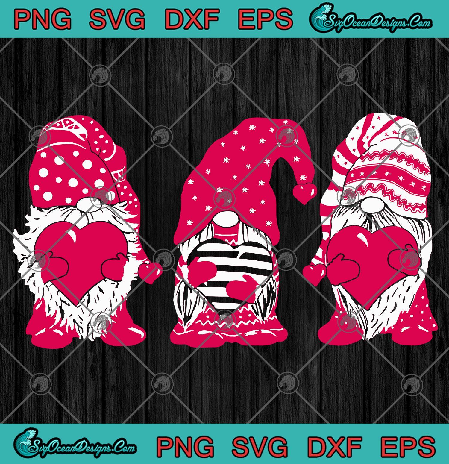 Download Three red Gnomes Santa Gnomies Patrick's Day Svg Png Eps ...
