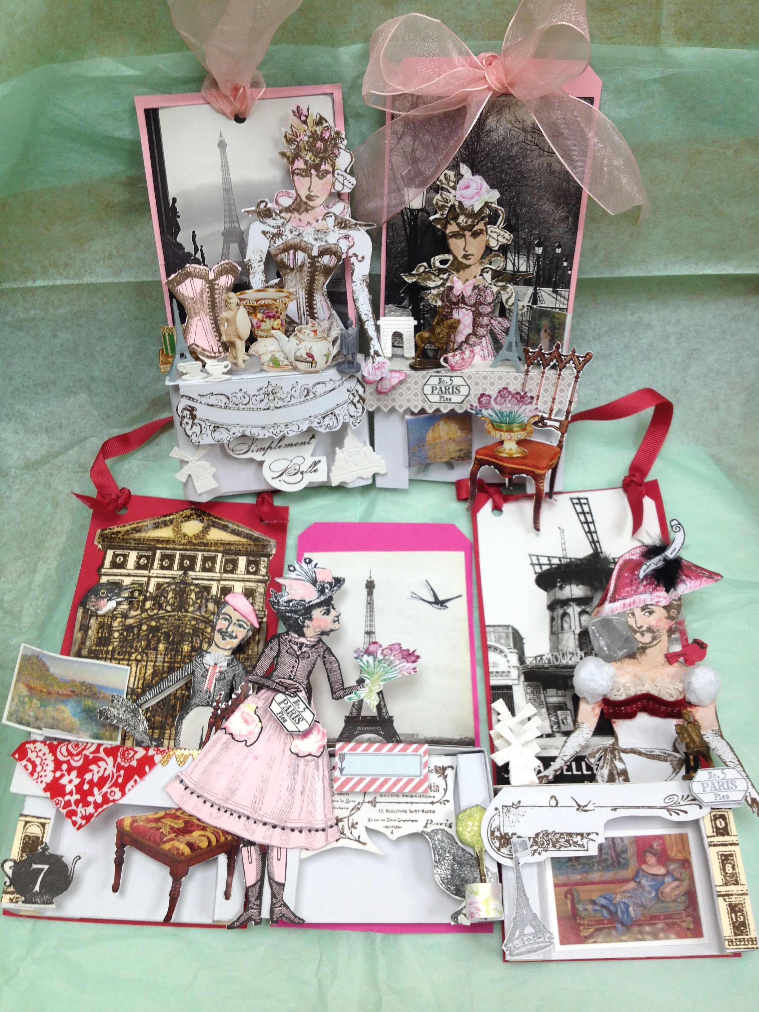 Rarebird Lisa for Catherine Moore Stamps Character Constructions Paris Flea 2016 tags collection
