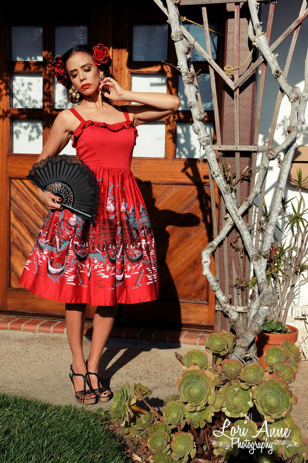 Final Sale - Bella Donna Dress in Italian Landscape