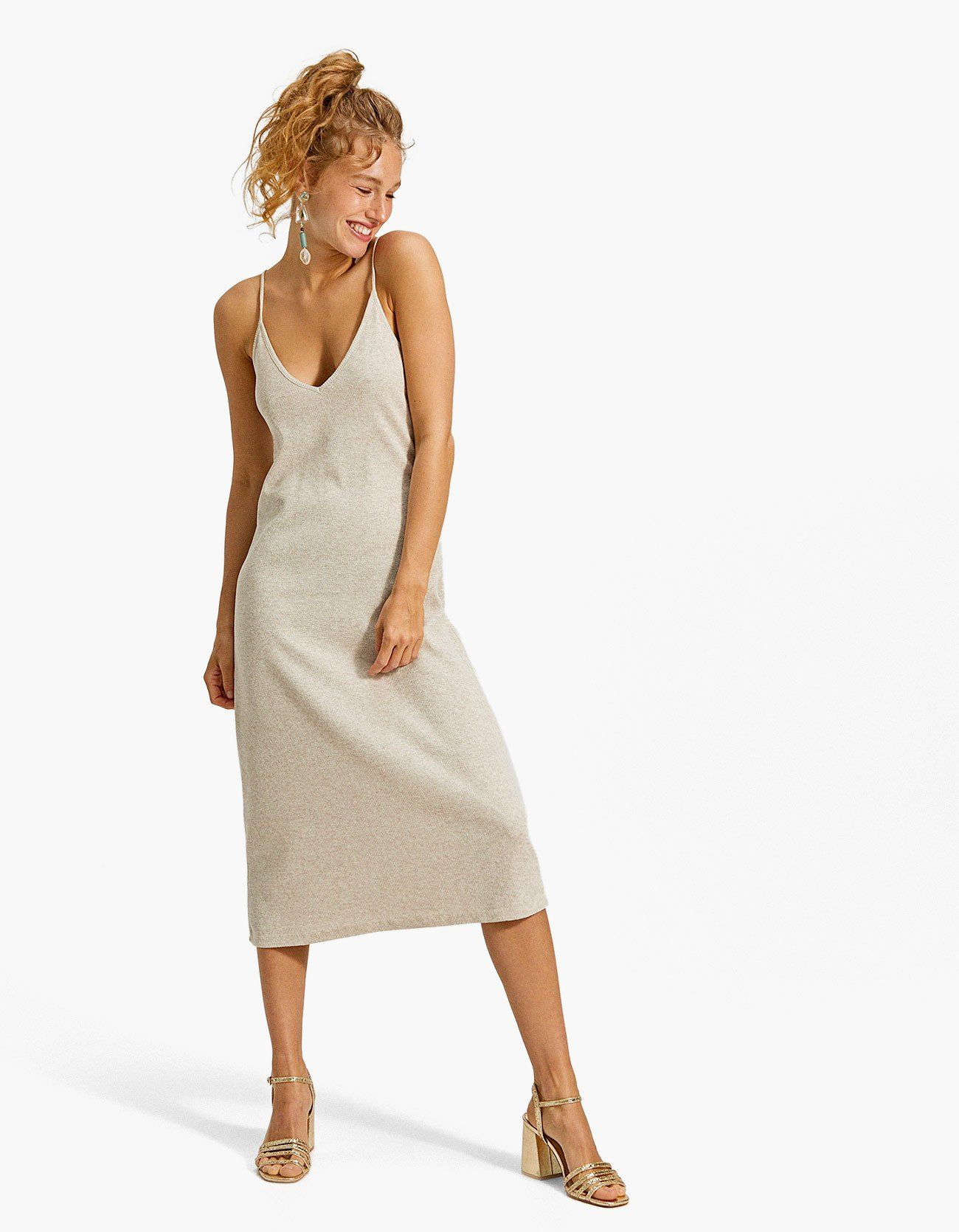Stradivarius Knit Camisole Dress