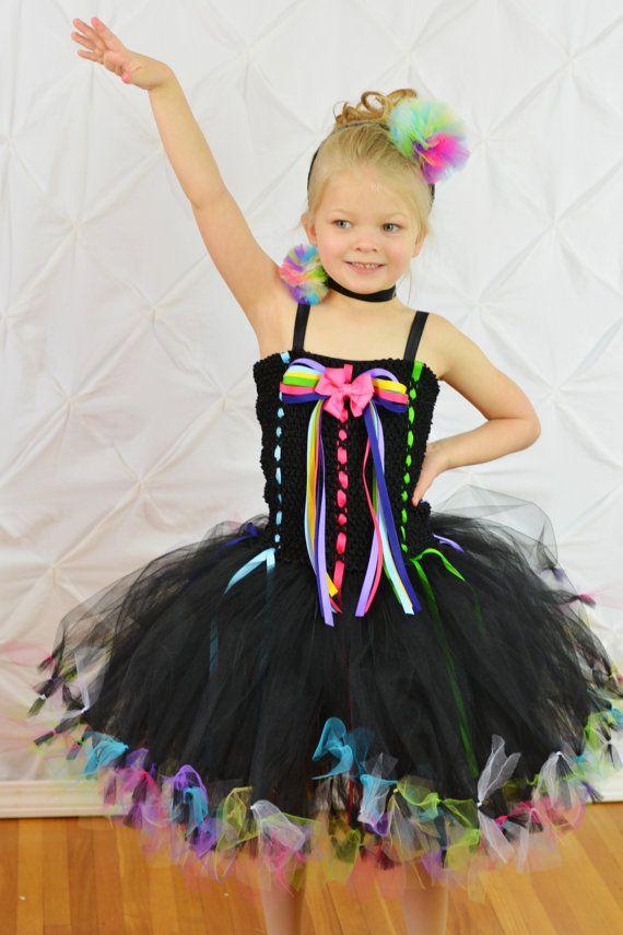 Items Similar To Rock Star Tutu Dress Outfit Circus Black Party Diva Birthday