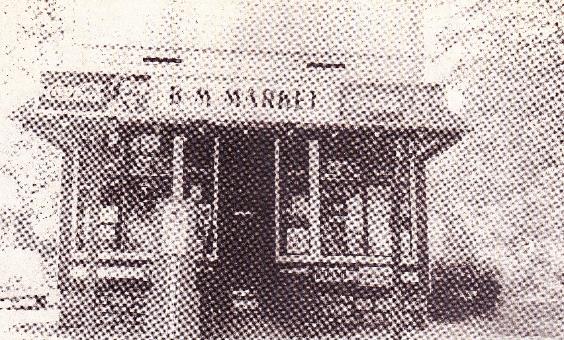 The B & M Market was located on the corner of Merrick and