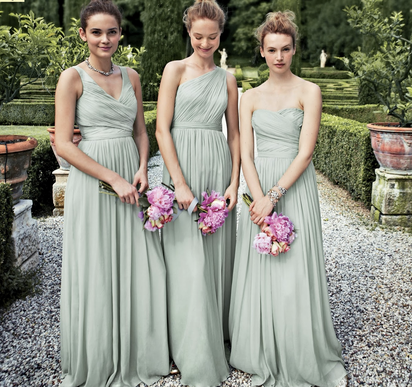 J crew dusty shale bm dresses thomas dont look pinterest j crew bridesmaid dresses love the idea of same color and length different tops ombrellifo Images