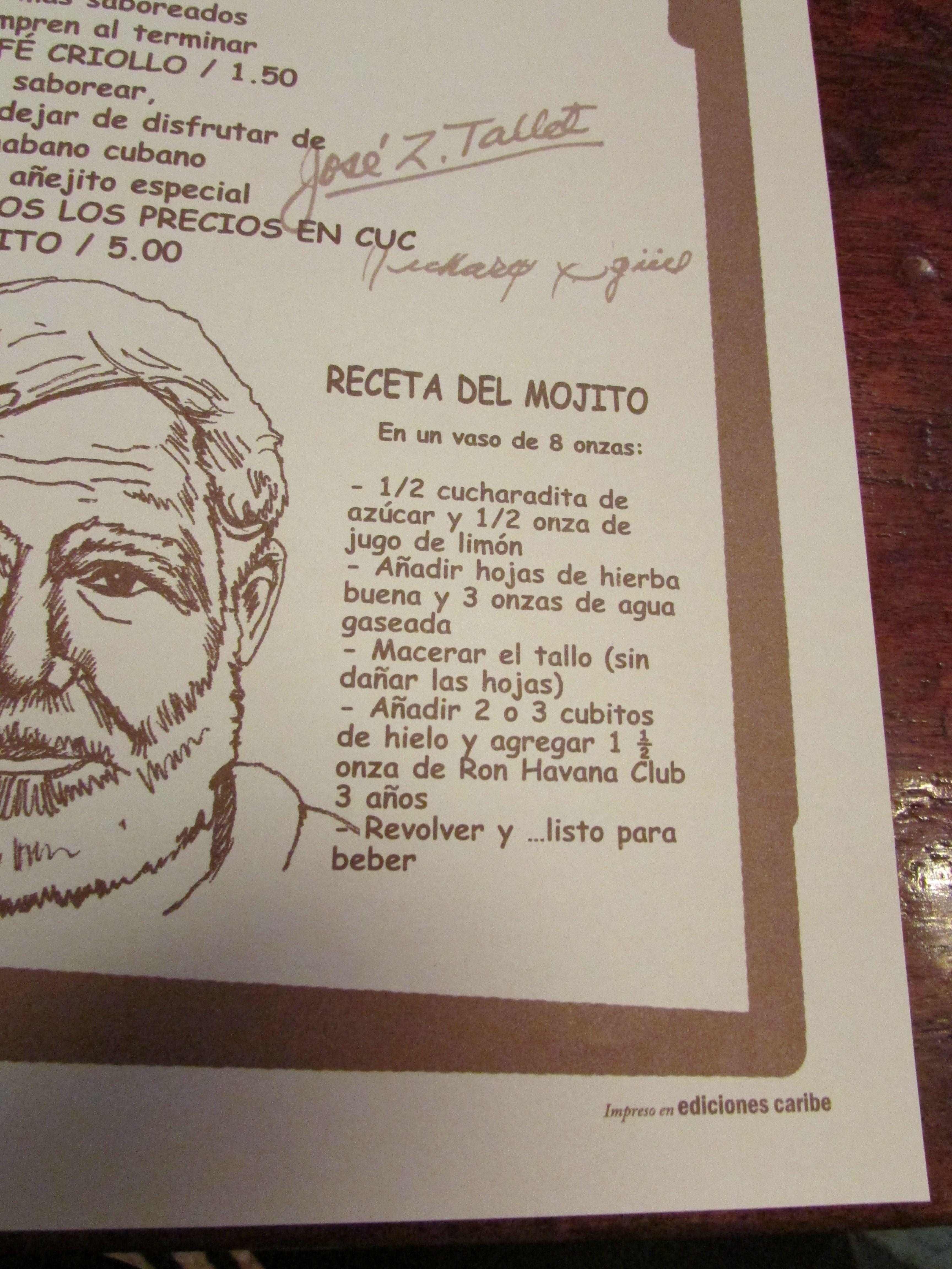 Hemingway S Favorite Mojito Recipe At La Bodeguita Del Medio Havana