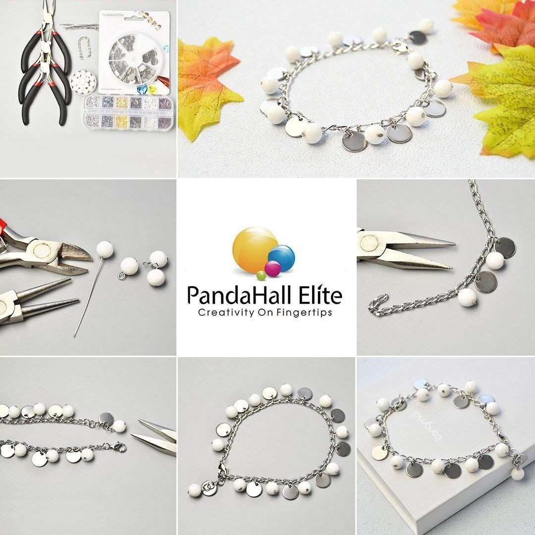 PandaHall Elite 60 Pcs 304 Stainless Steel Flat Round Oval Heart Rectangle Blank Stamping Tag Pendants Charms 6 Styles for Jewelry Making