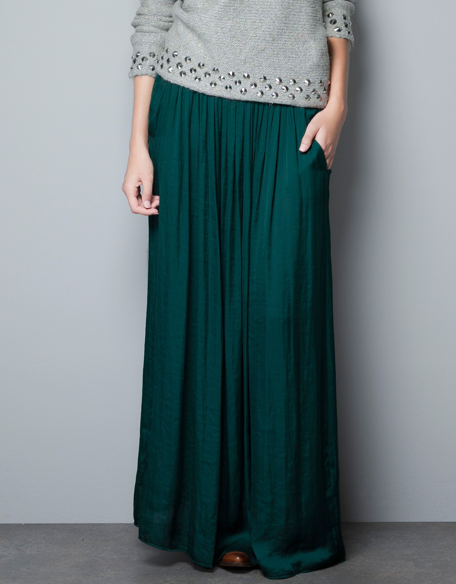 LONG SKIRT WITH POCKETS - Skirts - Woman - ZARA | I Dress to ...