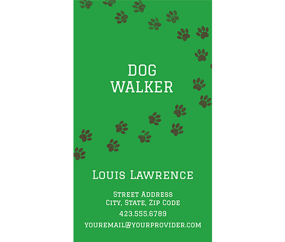 Download This Dog Lover Business Card Template And Other Free Printables From Myscrapnook Com Dog Walker Business Printable Business Cards Dog Walking Flyer