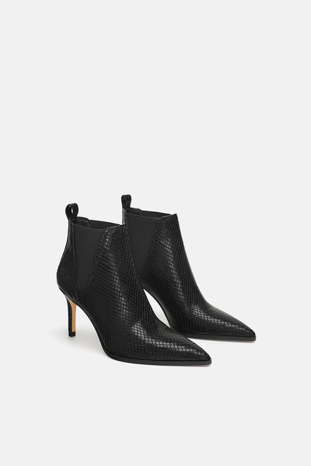 8332f0e06c ANIMAL PRINT HEELED ANKLE BOOTS - View all-SHOES-WOMAN   ZARA United States
