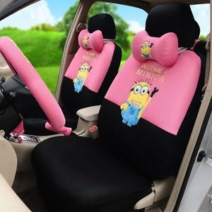 ON SALE Despicable Me Minions Car Seat Covers Accessories Set 18pcs TL15 78H
