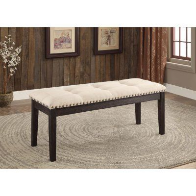 Furniture of America Althea Contemporary Style Tufted Dinner Bench