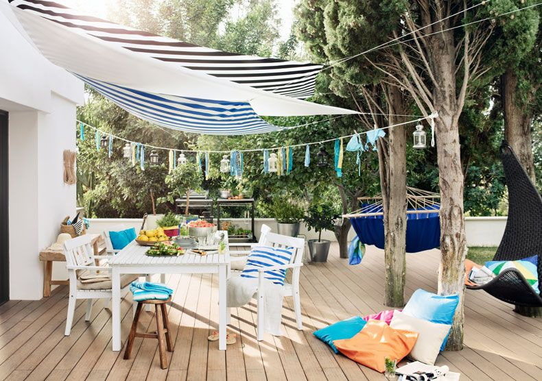 Sonnensegel Balkon Ikea ikea österreich terrasse mit dyning sonnensegel ängsö tisch und