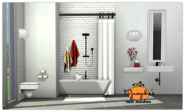 Senza Bathroom Set By 13pumpkin31 With Images Sims 4 Kitchen Sims 4 Sims