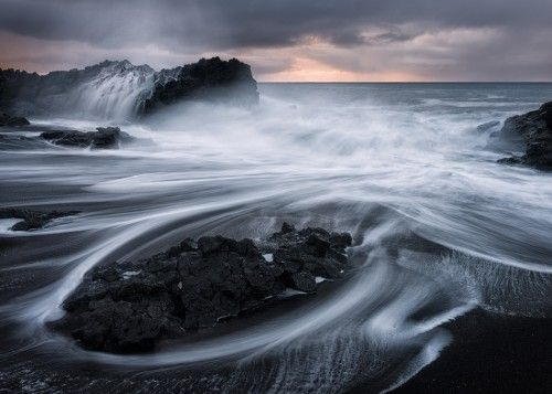 Lava storm. Iceland. Photography by Emmanuel Coupe.