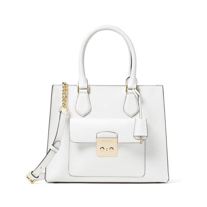 515d951423bd MICHAEL Michael Kors Bridgette Medium Saffiano Leather Tote White ...