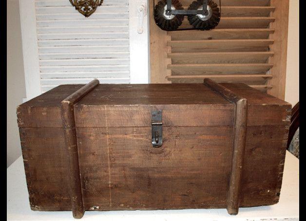 Vintage Truhen Alte Truhe Holztruhe Antik Transportkiste Tisch