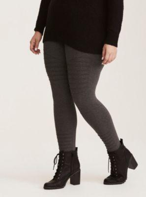 a6173501411438 Moto Full Length Leggings in Black/White Plus Size Leggings, Moto Pants,  Speed