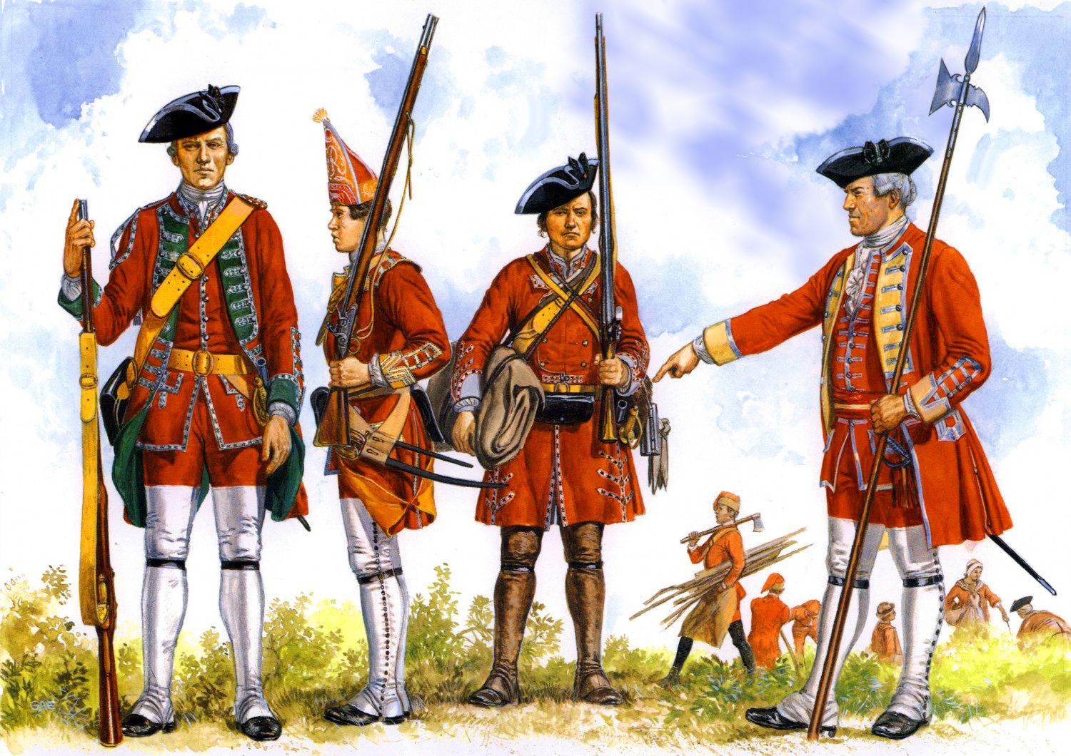 General Wolfe's Foot Regiments during the Seven Years war