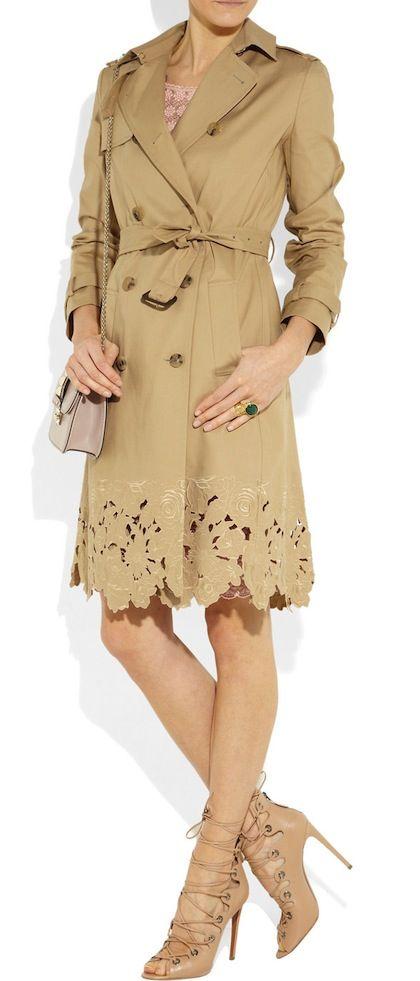 Valentino trench coat...love tha strappy shoes c702dbf3a2