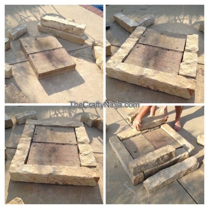 stone fire pit DIY