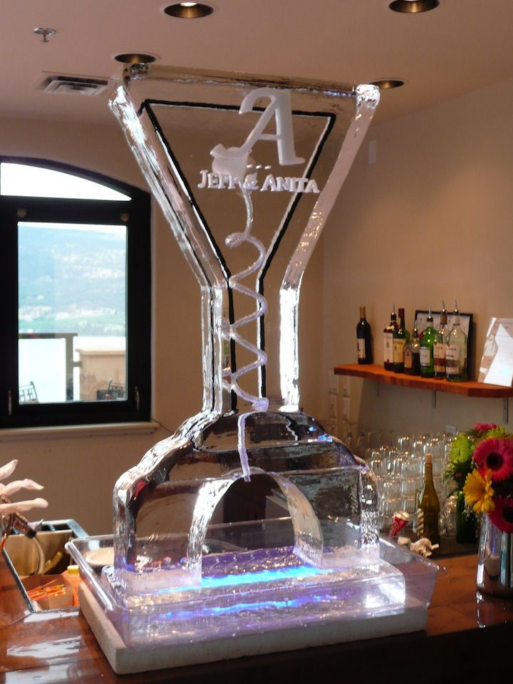 Tall Martini Ice Luge