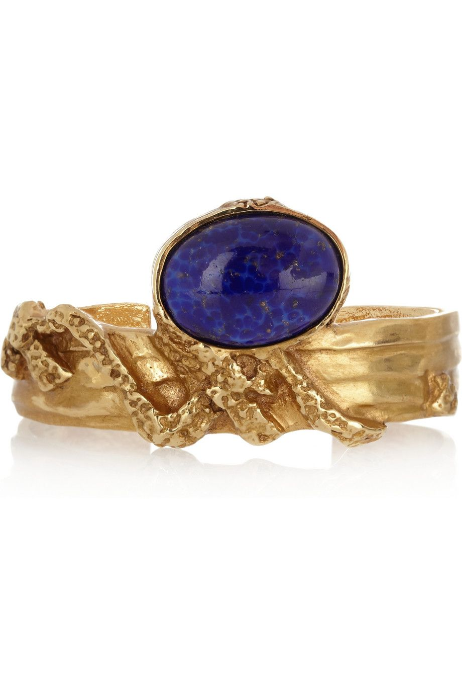 28716e128db YVES SAINT LAURENT Arty gold-plated glass cuff   Baubles, Bangles ...