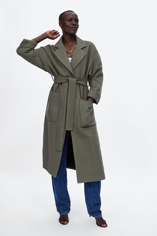 1c4f571e ABRIGO LARGO CINTURÓN | Fall / Winter 2018-2019 | Belted coat, Zara ...