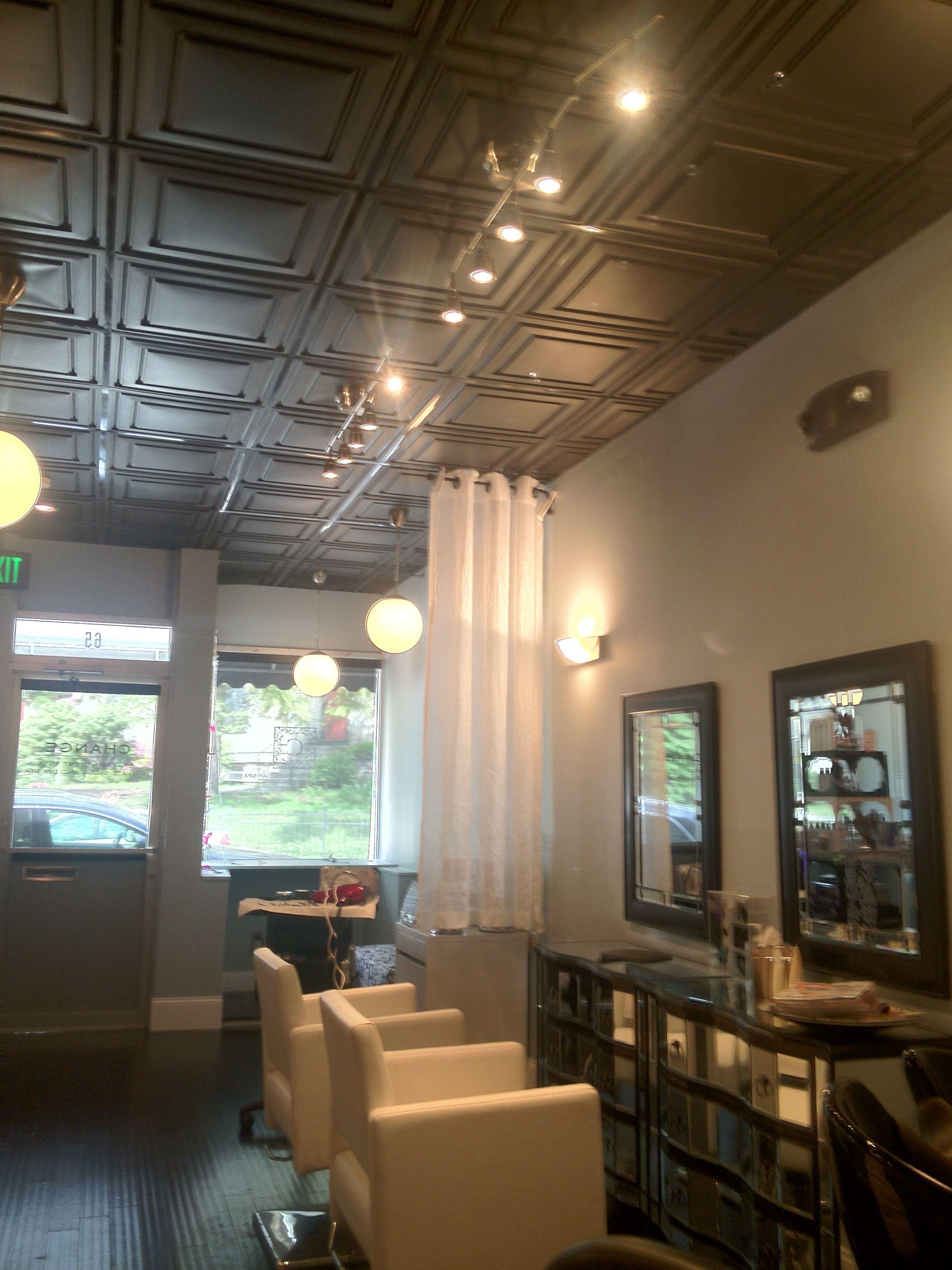 Salon Design By C Harding Callahan Ceiling Tiles Painted