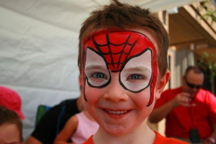 örümcek Adam Yüz Boyama örnekleri Kız Ve Erkek çocuk Doğum Günü