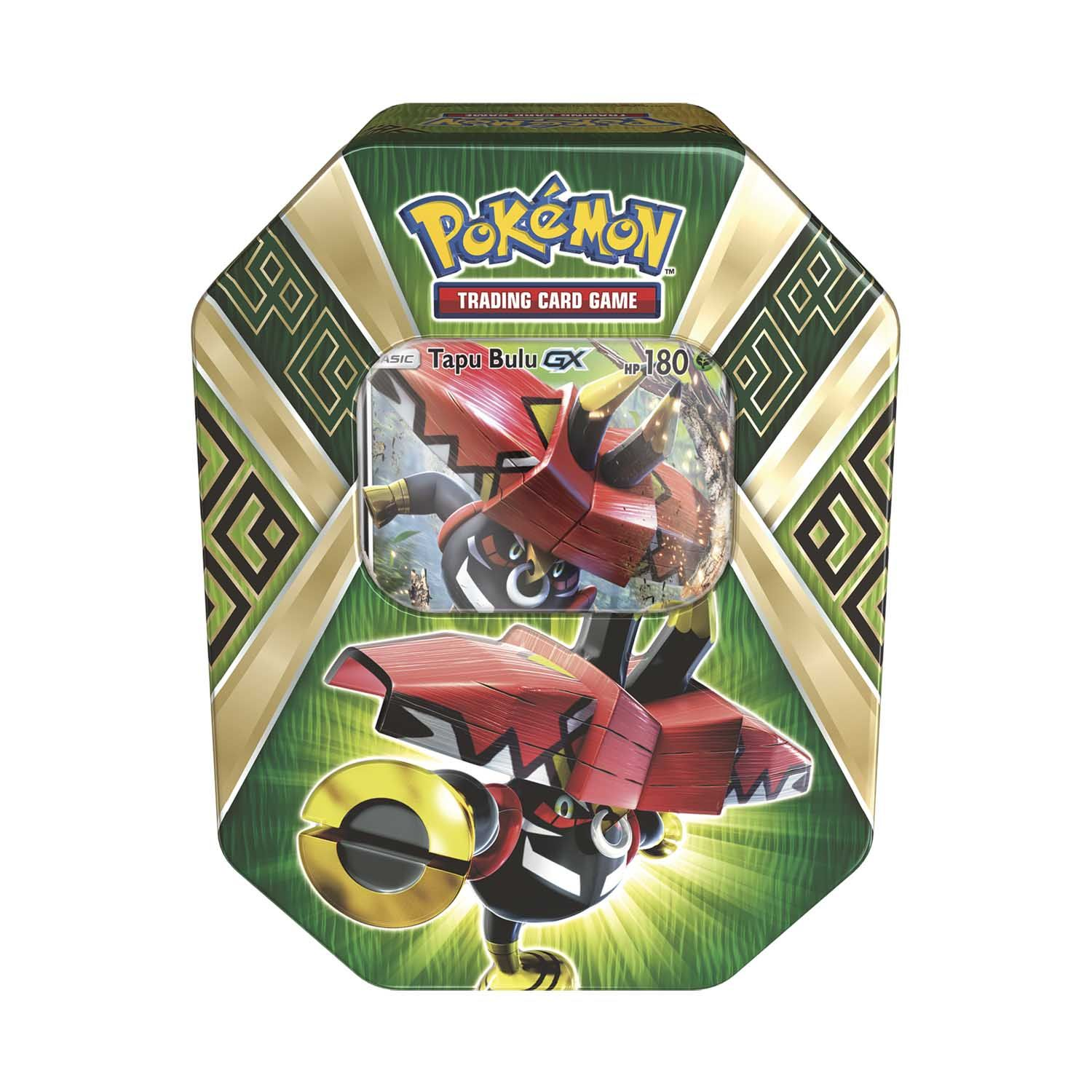 Pokemon Trading Card Game Island Guardians Tin With Tapu Bulu Gx Hunters Online Pokemon Trading Card Game Pokemon Trading Card Pokemon