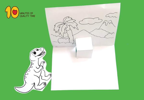 T Rex Pop Up Template Pop Up Cards Teachers Day Card Pop Up