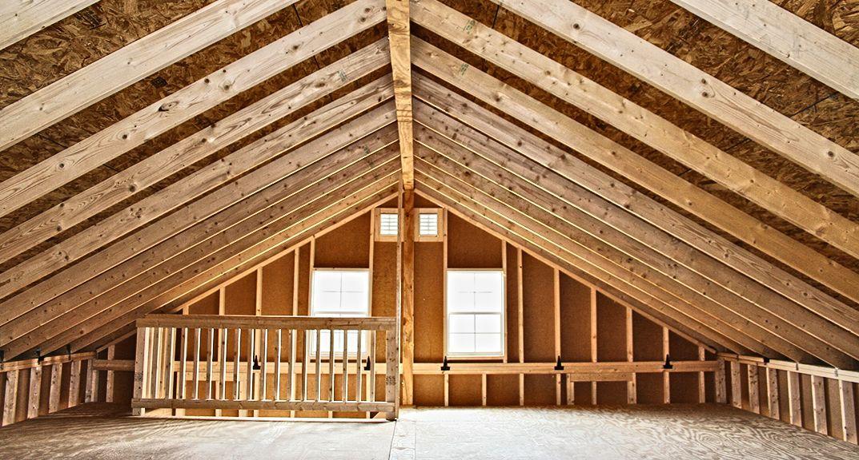 2 Story Prefab Garage | Horizon Structures | Prefab garages, Prefab, Garage loft