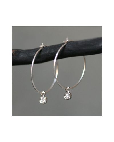 Diamond Drop Hoops Jewelmint I Want These