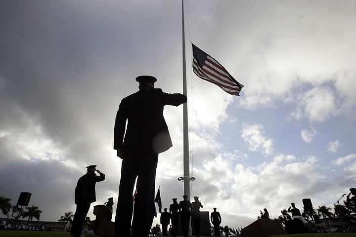 The World According To Me In Memoriam 5 Years In Iraq American Flags Flying Half Mast Faith Inspiration