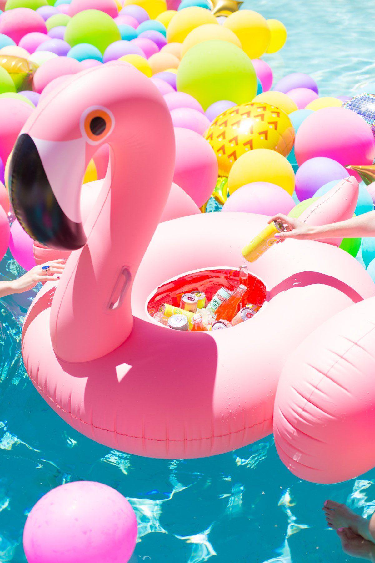 DIY Flamingo Float Cooler Color Flamingo float