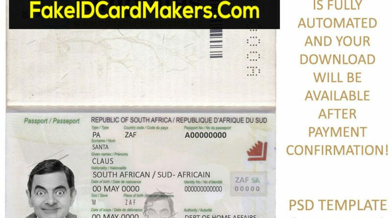 You Searched For Fake Id Card Maker Online Driver License Passport Ssn Passport Template Passport South Africa