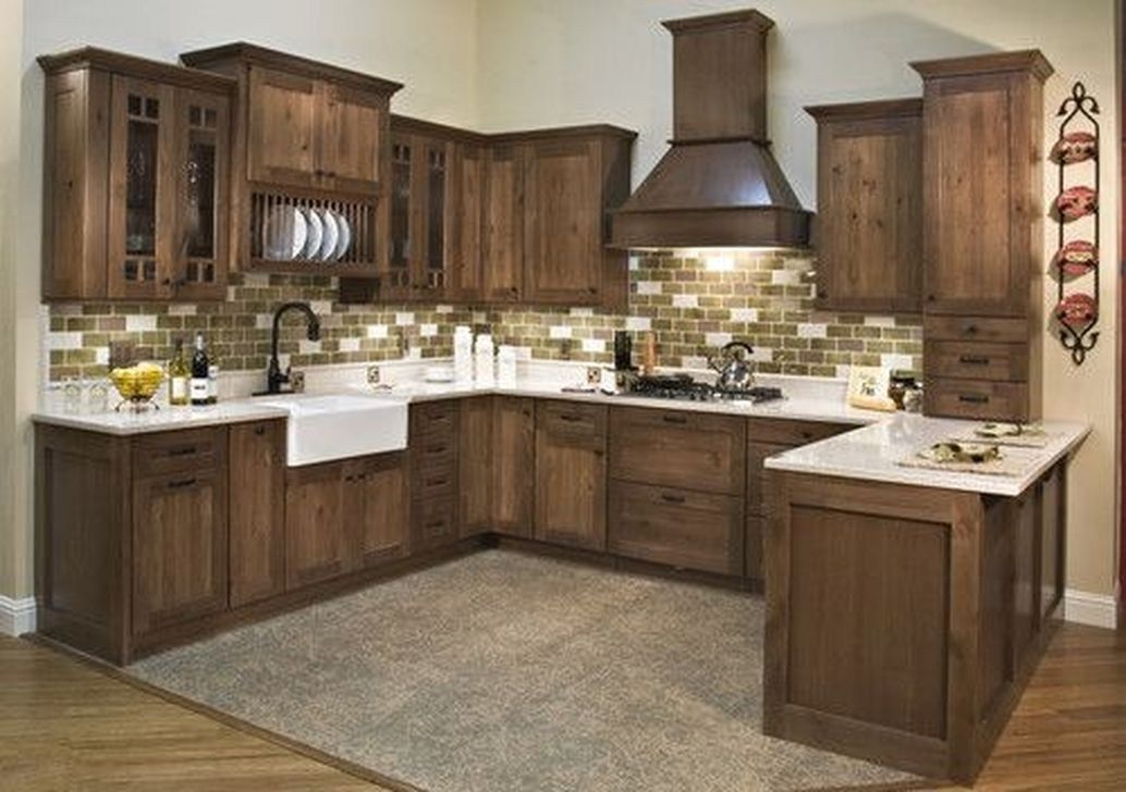 50 Popular Rustic Kitchen Cabinet Should You Love - Rustic kitchen cabinets, Rustic kitchen, Hickory kitchen cabinets, New kitchen cabinets, Walnut kitchen cabinets, Kitchen renovation - A rustic kitchen cabinet is always a good addition to a kitchen  That's right  It doesn't matter what kind of décor your kitchen has, a rustic cabinet can blend nicely    Continue Read >>