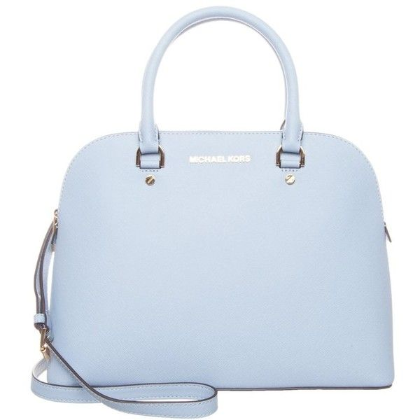 Michael Kors Cindy Handbag Pale Blue 295 Liked On Polyvore Featuring Bags Handbags Purses Light Leather