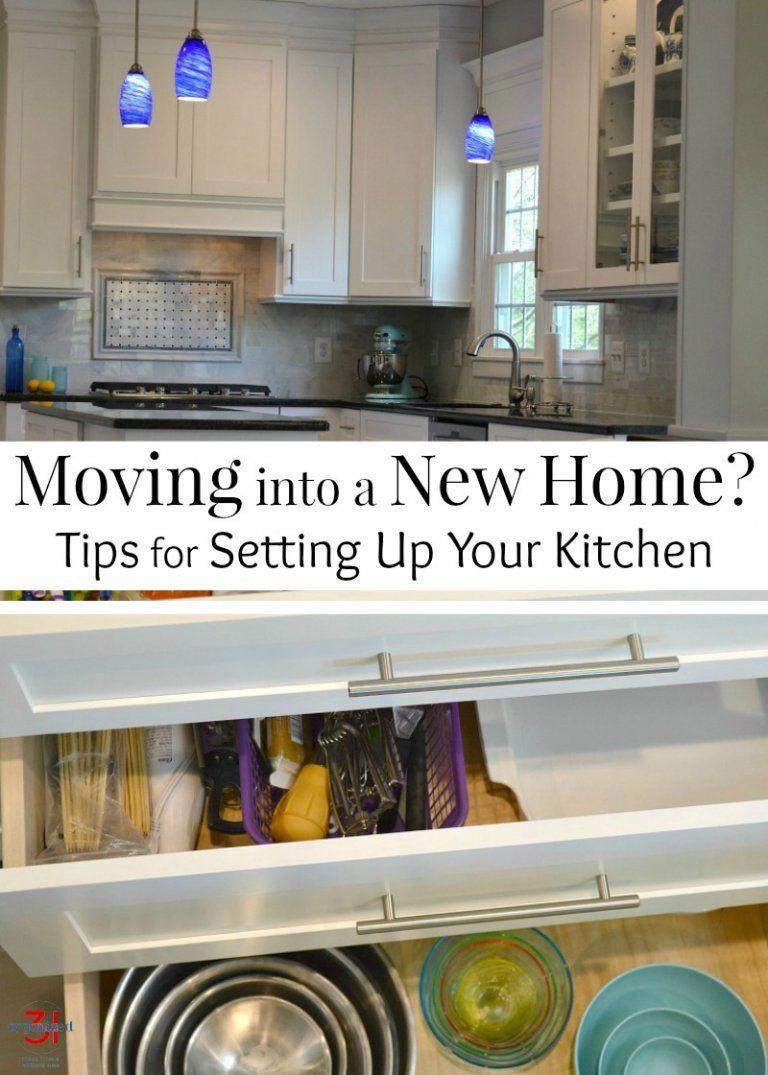 Tips on how to set up your kitchen if you're moving into a new home from a mom that has moved into and organized over 20 homes and kitchens. | relocation | new home | new kitchen #homeimprovementtips