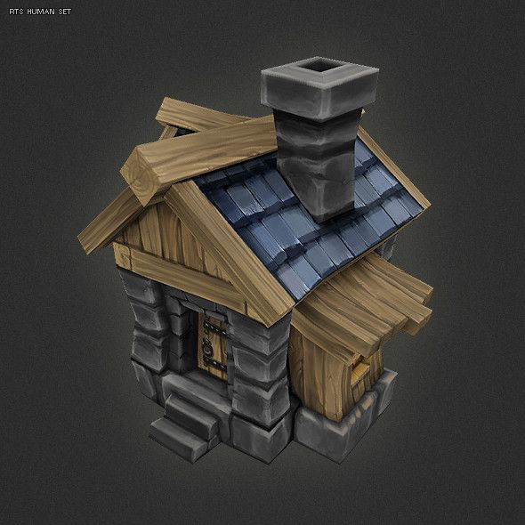 ma hand painted human house conceptart low poly 3d low poly 3d rh pinterest com