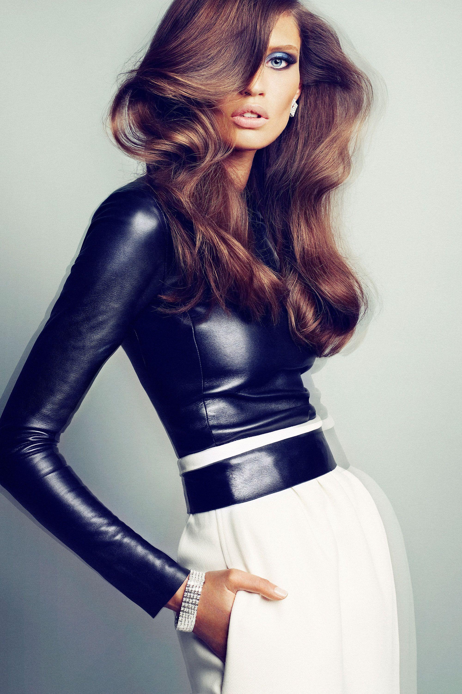 Model Bianca Balti with hair styled by Christoph Hasenbein, shot by Txema Yeste. - HarpersBAZAAR.com